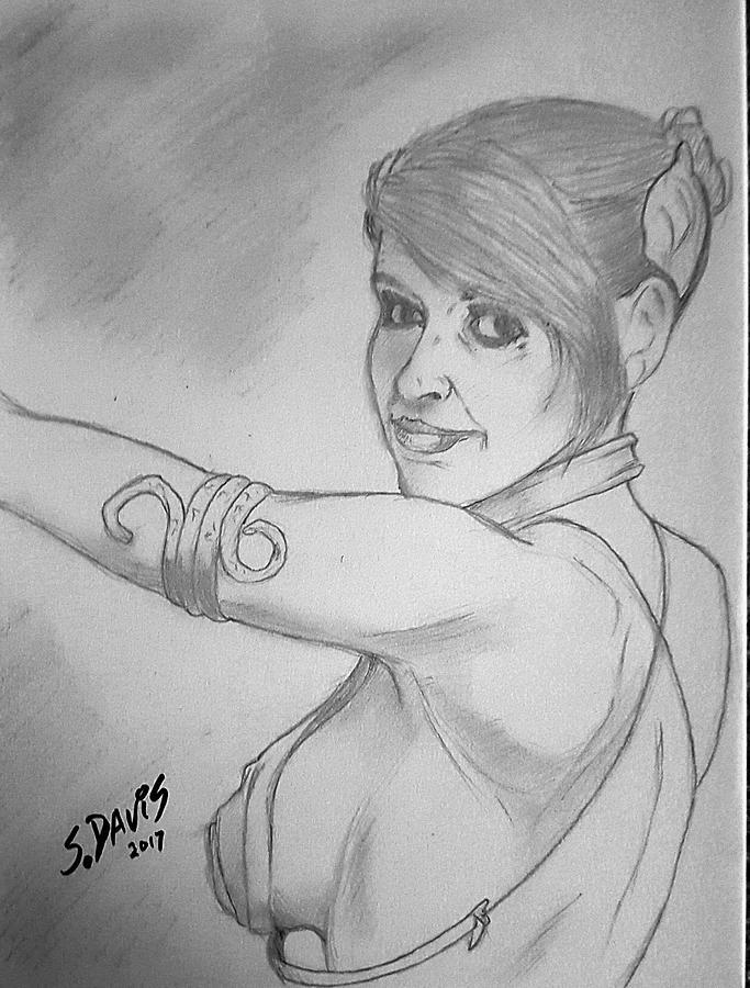 Slave Leia Drawing