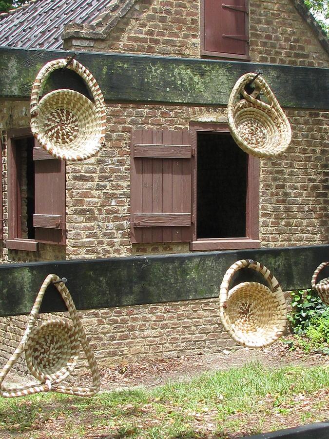 Sweetgrass Photograph - Slave Shack And Sweet Grass Baskets by Staci-Jill Burnley