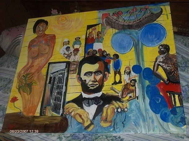 People Painting - Slaves And There Controllers by Dominic Angarano