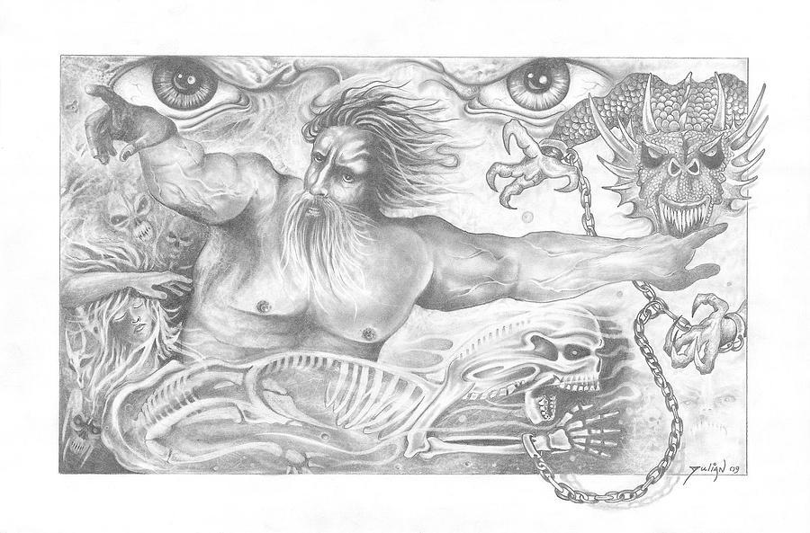 Tattoos Drawing - Slayer by Julian  B