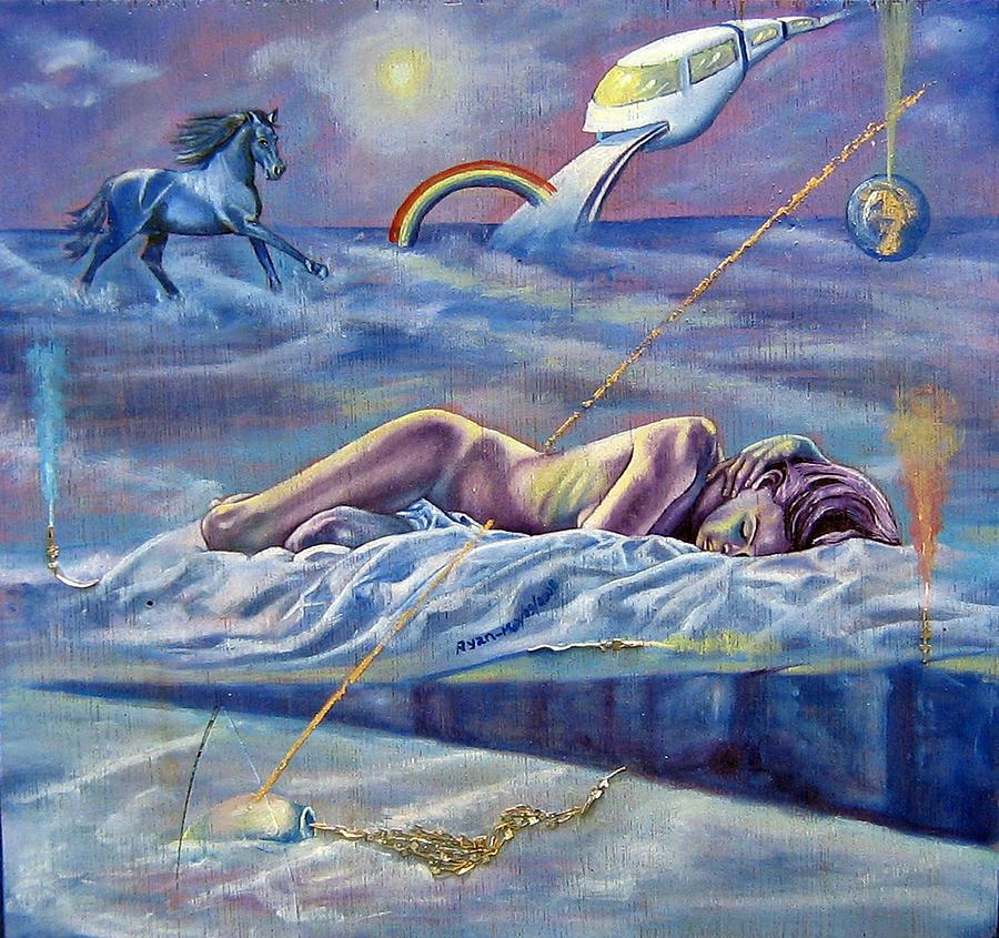 Female Nude Painting - Sleep Crack by Maritza Sanipatin