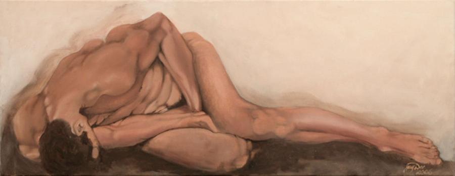 Figurative Painting - Sleep by Jane  Simpson