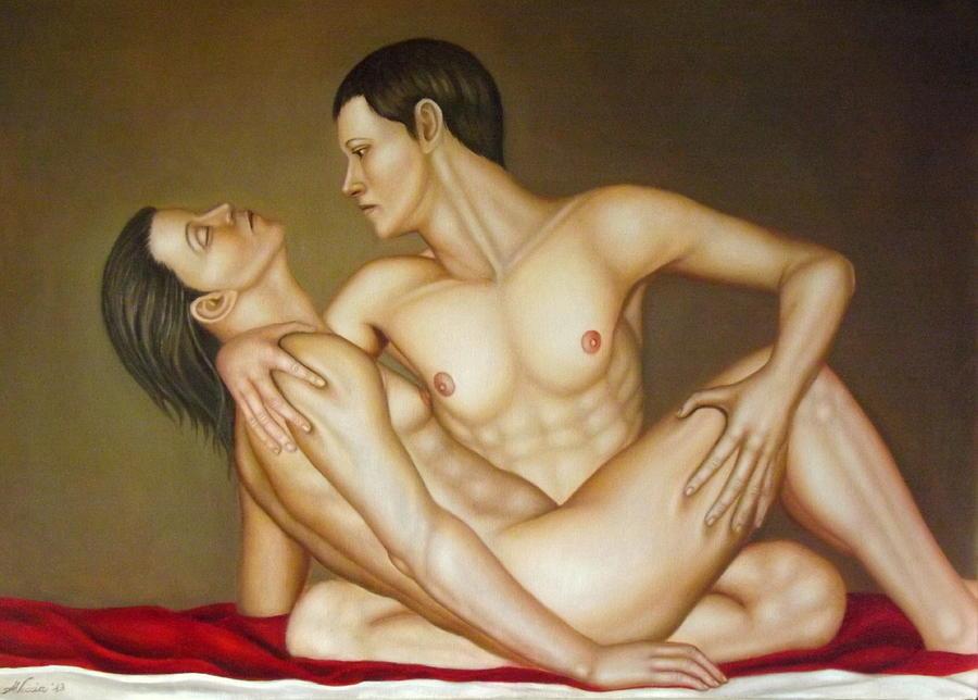 Nude Painting - Sleeping beauty by Alessandra Veccia