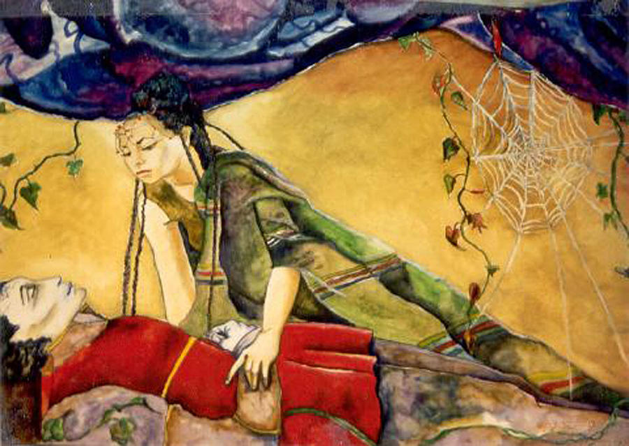 Goddess Painting - Sleeping Beauty by Erika Brown