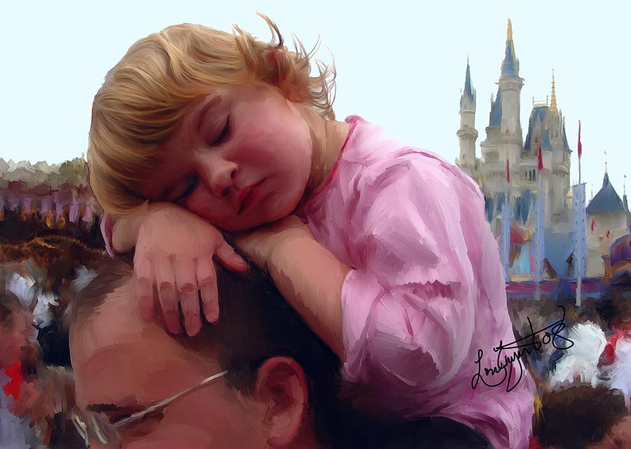 Children Painting - Sleeping Beauty by Lori Enyart
