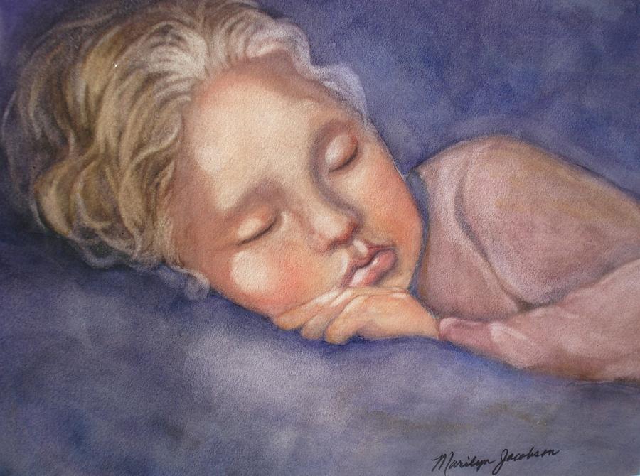 Sleeping Girl Painting - Sleeping Beauty by Marilyn Jacobson
