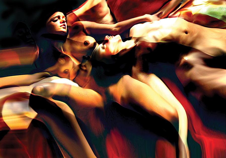 People Painting - Sleeping Bodies by Naikos N
