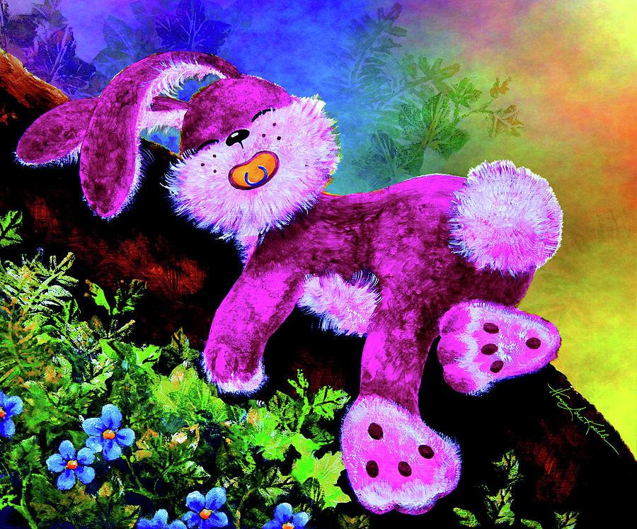 Easter Bunny Painting - Sleeping Bunny by Hanne Lore Koehler