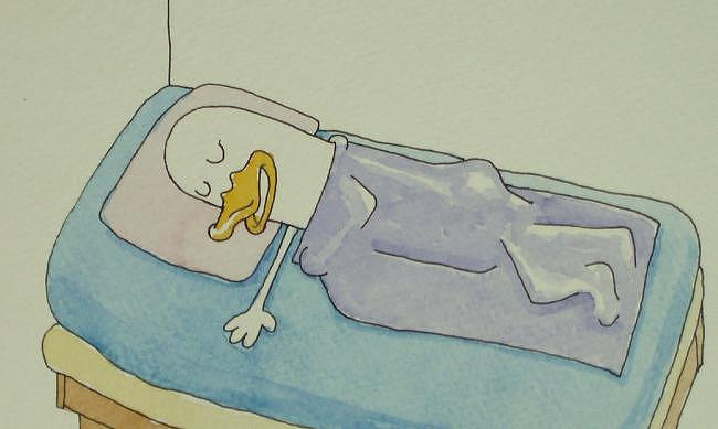Sleep Drawing - Sleeping Duckie by Mike Boast
