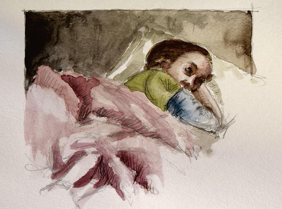 Sleeping Painting by Engin Yuksel