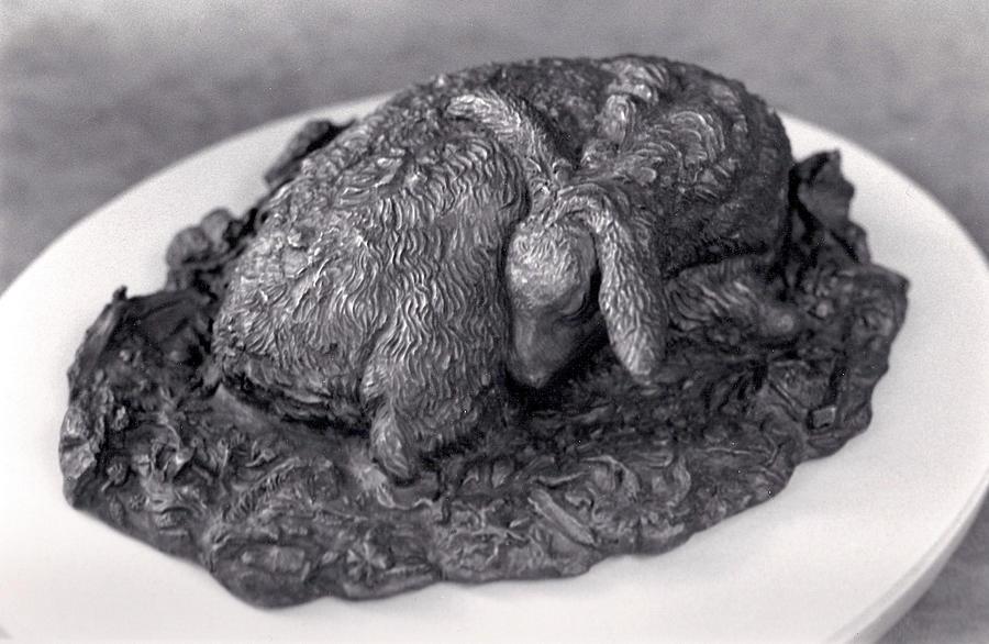 Animal Sculpture - Sleeping Fawn by Dawn Senior-Trask