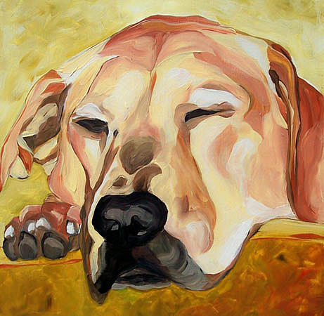Dog Painting - Sleeping Kate by Alli Berglund