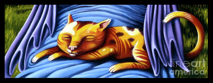 Sleeping Kitty by Valerie White