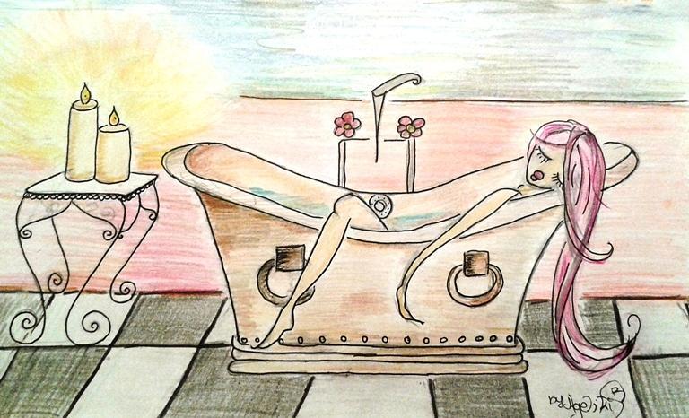Sleeping Drawing - Sleeping Lady by Ageliki