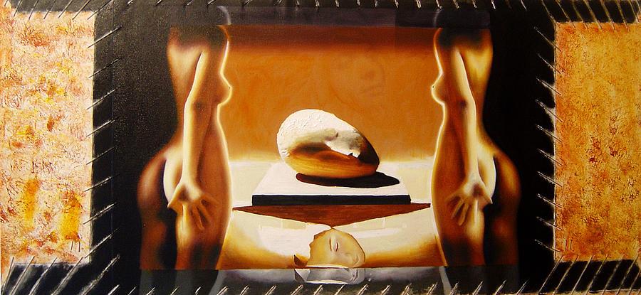 Oil Painting - Sleeping Muse by Romeo Niram