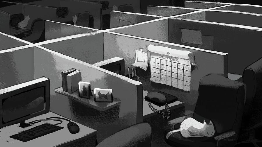 Cats Digital Art - Sleeping On The Job by Ellan Suder