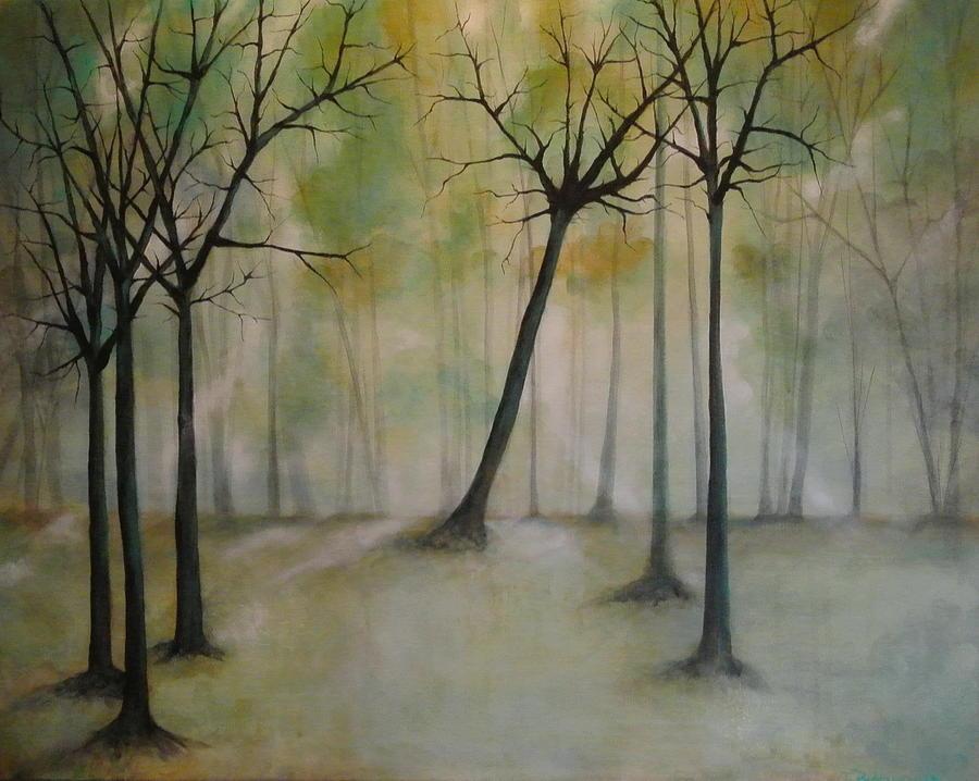 Paintings Painting - Sleeping Trees by Tamara Bettencourt