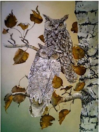 Wildlife Painting - Sleepy Heads by Wm Garcia
