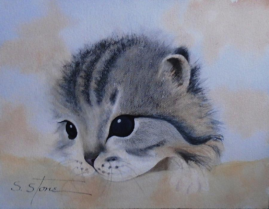 Sleepy Kitten by Sandra Stone