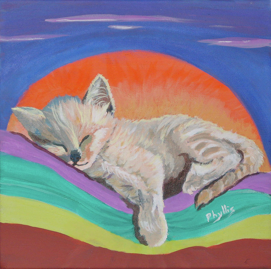 Kitten Painting - Sleepy Time by Phyllis Kaltenbach