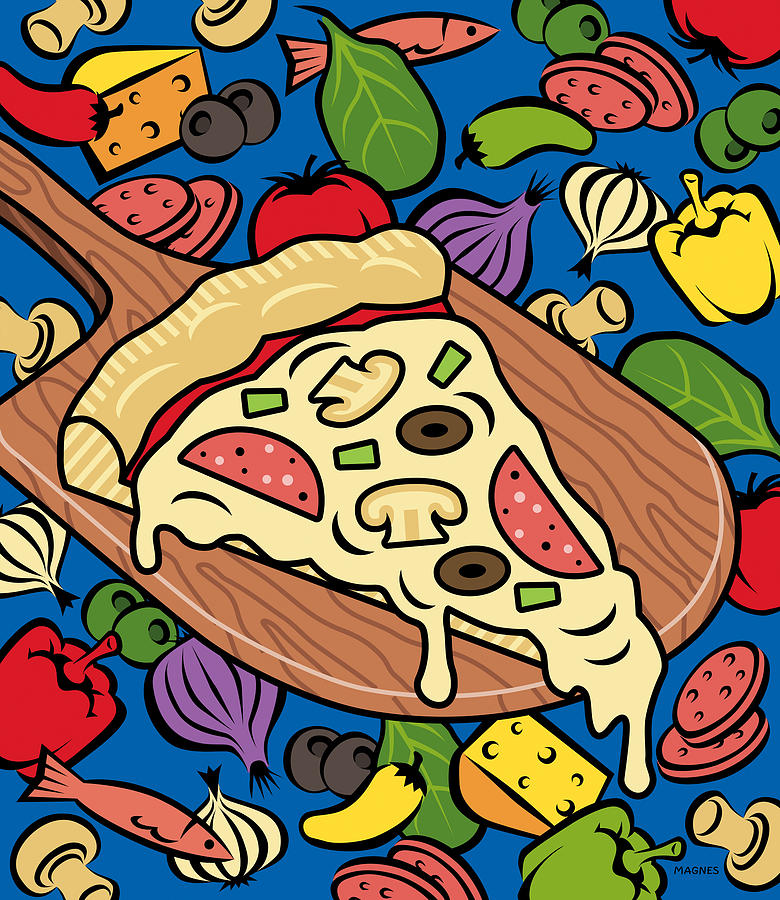 Pizza Digital Art - Slice Of Pie by Ron Magnes