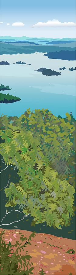 Squam Lake Painting - Slice of the Lakes by Marian Federspiel