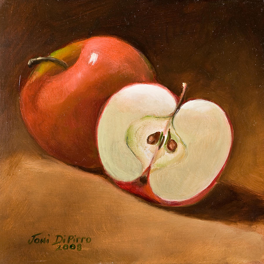 Apple Painting - Sliced Apple by Joni Dipirro