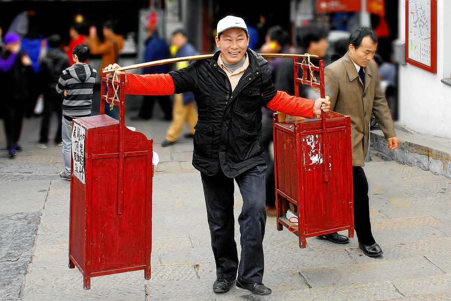 Street Scenes Photograph - Slices Of Chinese Life by Christine Till