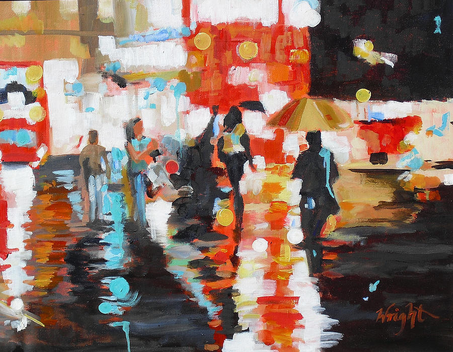 Contemporary Painting - Slick by Molly Wright