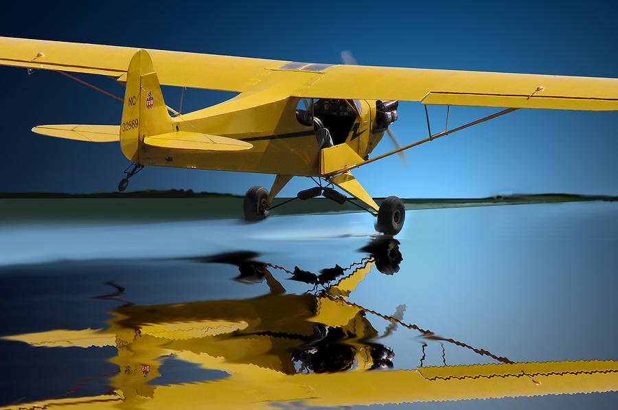 Aircraft Art Photograph - Slick Take Off by Curtis Chapline