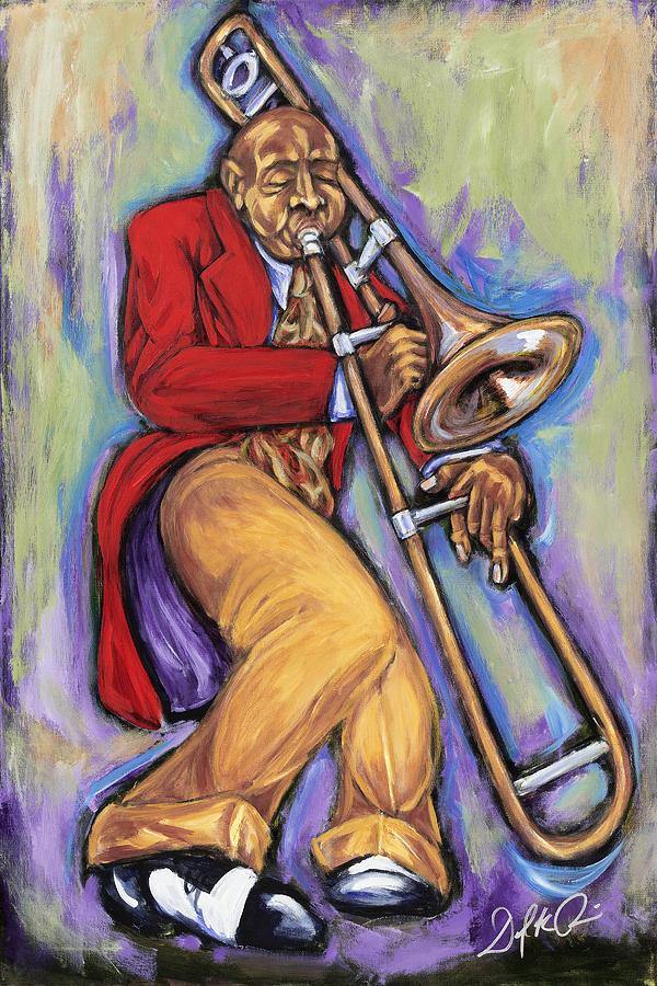 Jazz Painting - Slide by Daryl Price