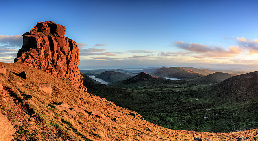 County Down Photograph - Slieve Bearnagh Rusty Golden Sunset by Glen Sumner