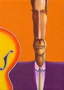 Jazz Painting - Slim Jazzman by Naomi Shadle