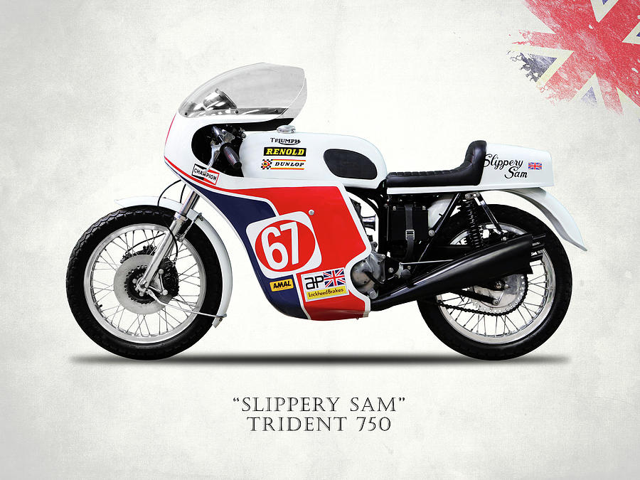 Triumph Trident Photograph - Slippery Sam Production Racer by Mark Rogan