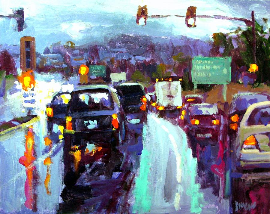 Slippery When Wet Painting by Brian Simons