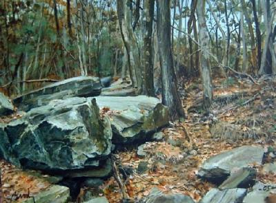 Landscape Painting - Slope by William Brody