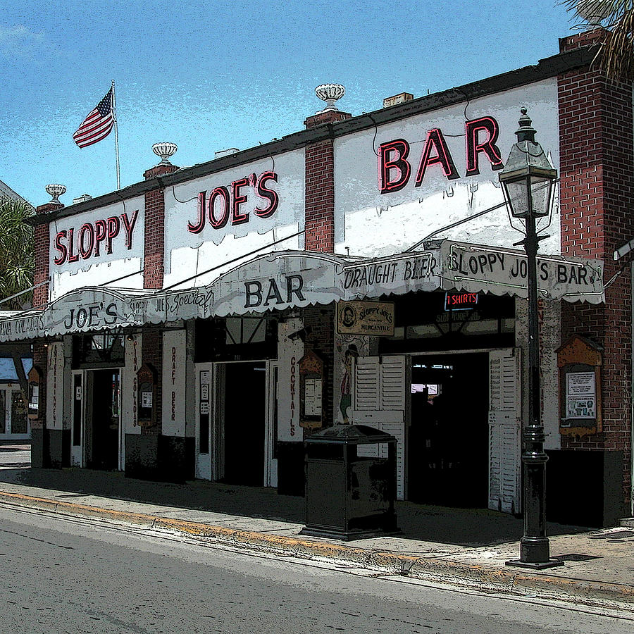 Sloppy Joe's Photograph - Sloppy Joes - Key West by Frank Mari
