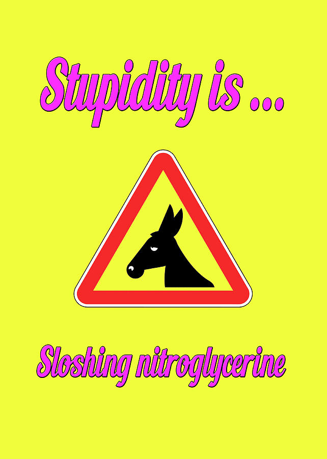 Funny Digital Art - Sloshing Bigstock Donkey 171252860 by Mitchell Watrous