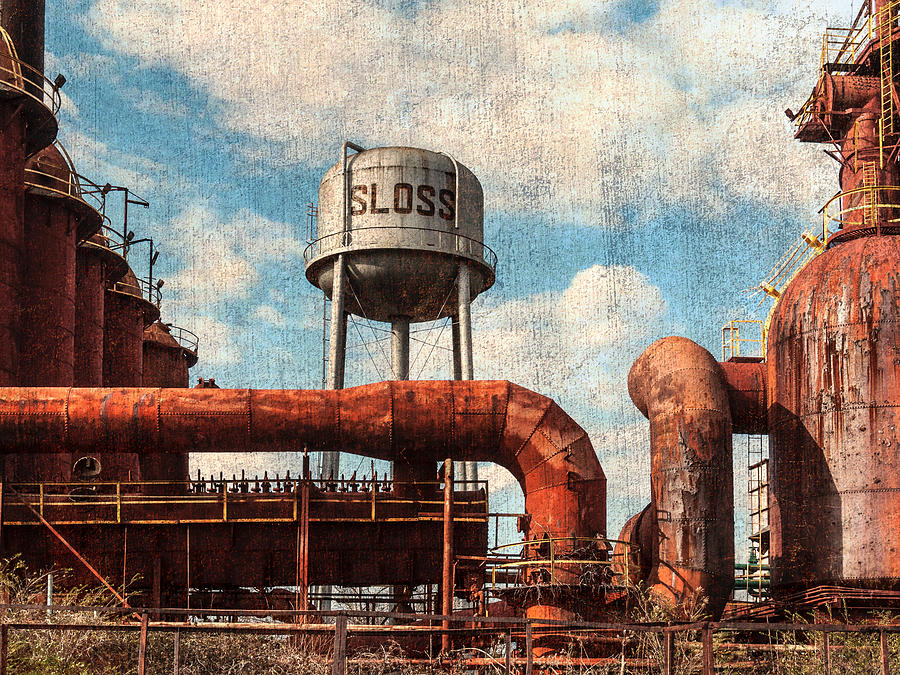 Water Tank Photograph - Sloss by Phillip Burrow