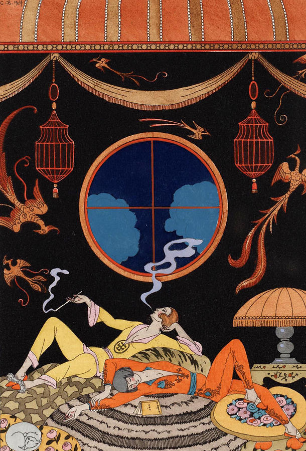 Barbier Drawing - Sloth by Georges Barbier