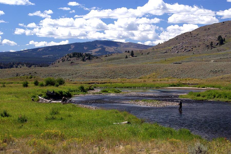 Montana Photograph - Slough Creek Angler by Marty Koch