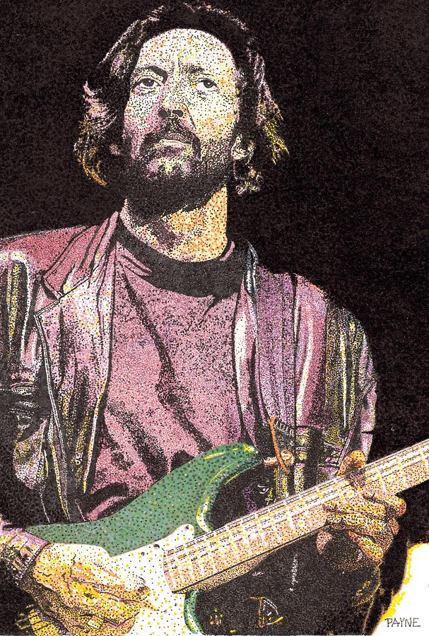 Portrait Painting - Slowhand by Rob Payne