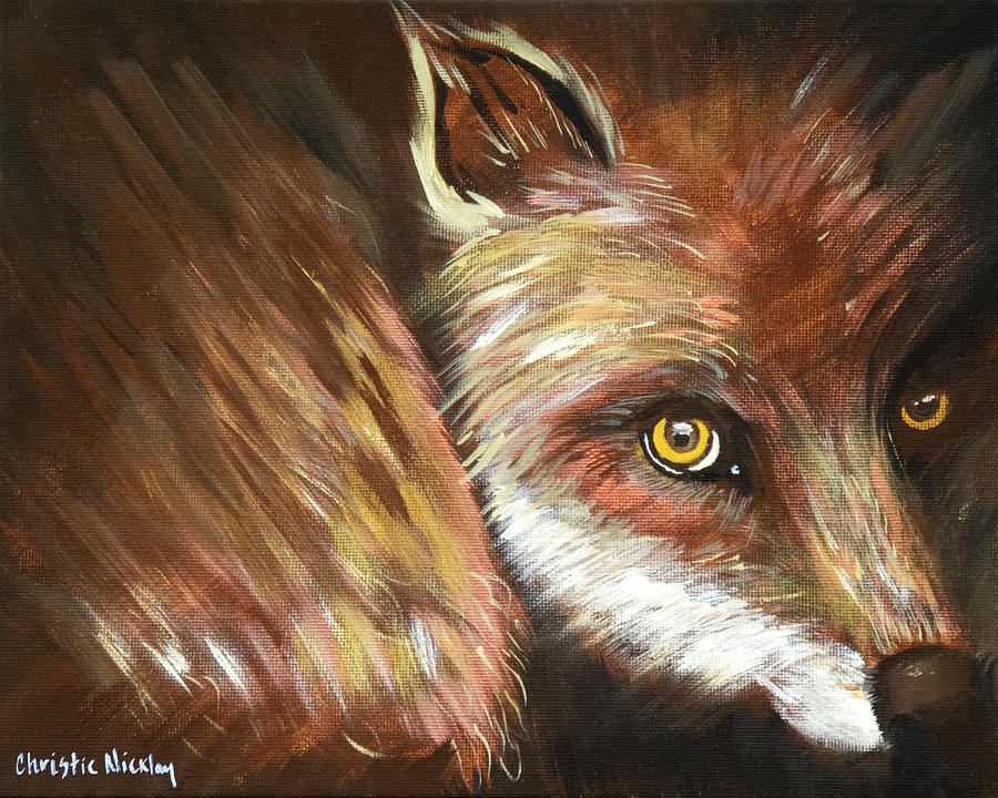 Animal Painting - Sly Fox by Christie Nicklay