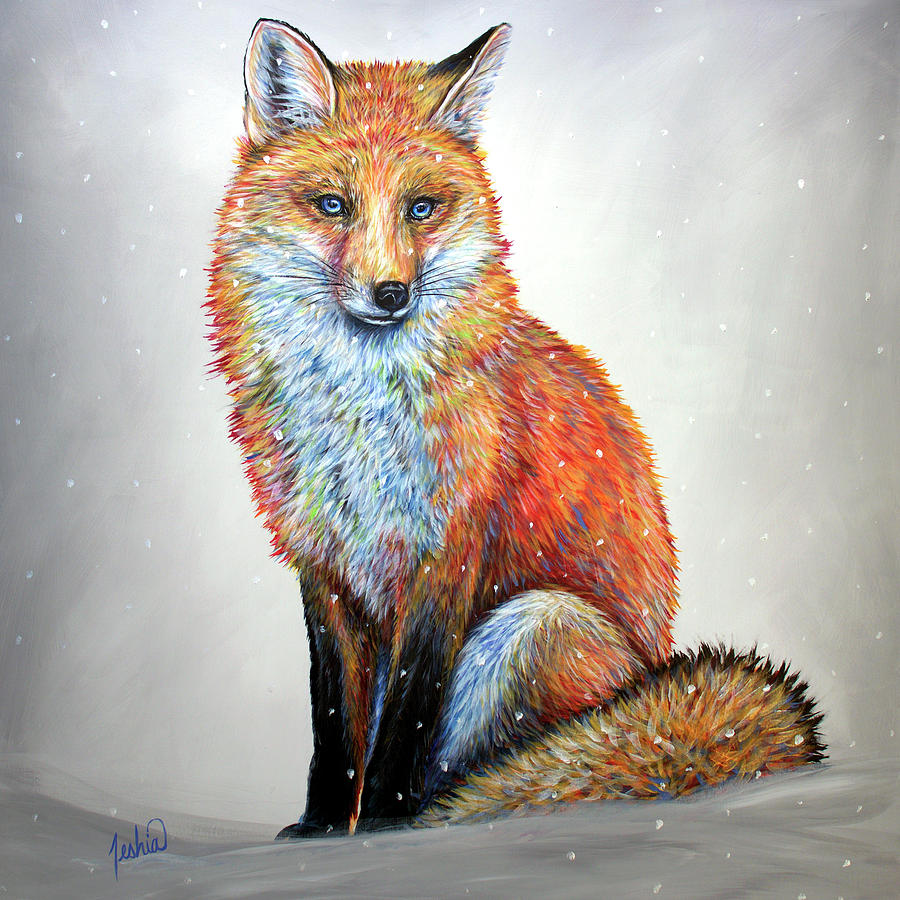 Fox Painting - Sly by Teshia Art