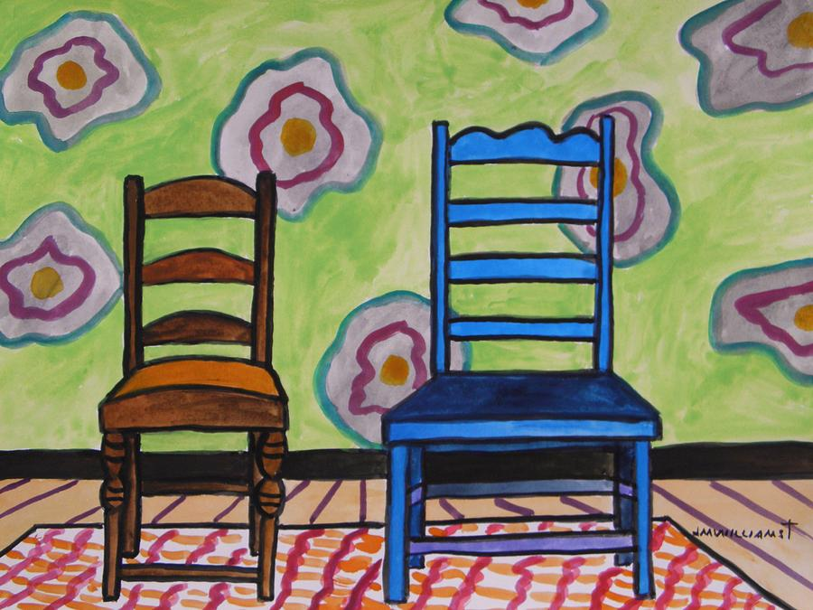 Chairs Painting - Small And Large by John Williams