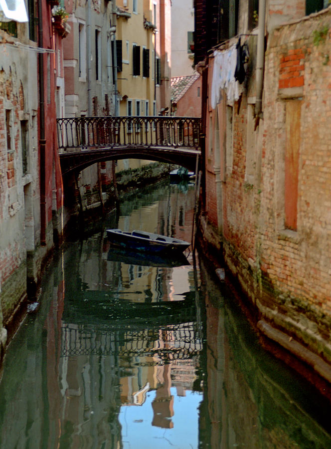 Small Boat On Canal In Venice For Vrooman Photograph by Michael Henderson
