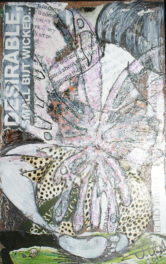 Fairy Mixed Media - Small But Wicked by Joanne Claxton