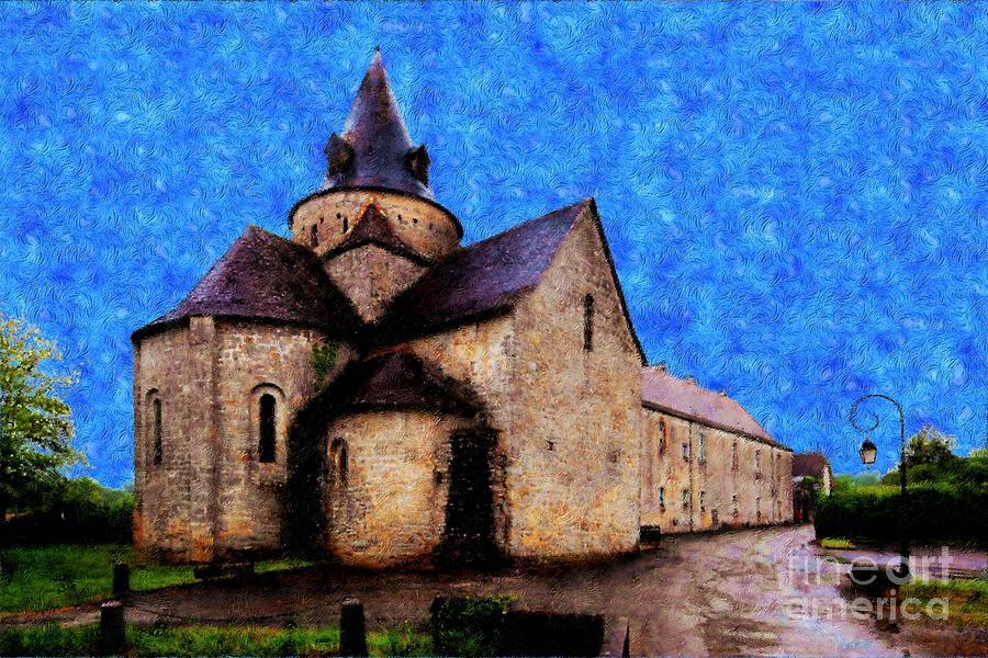 Vincent Van Gogh Photograph - Small Church 1 by Jean Bernard Roussilhe