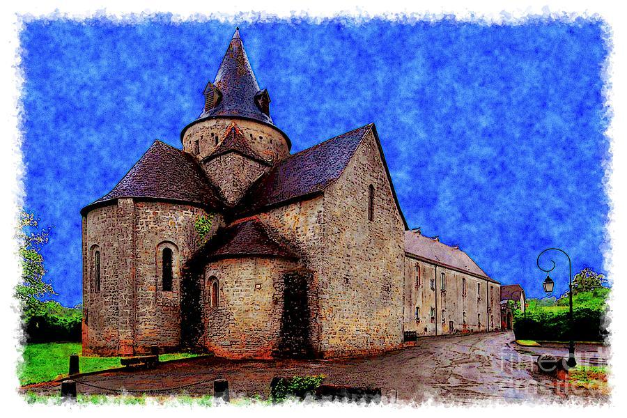 Watercolor Photograph - Small Church 2 by Jean Bernard Roussilhe