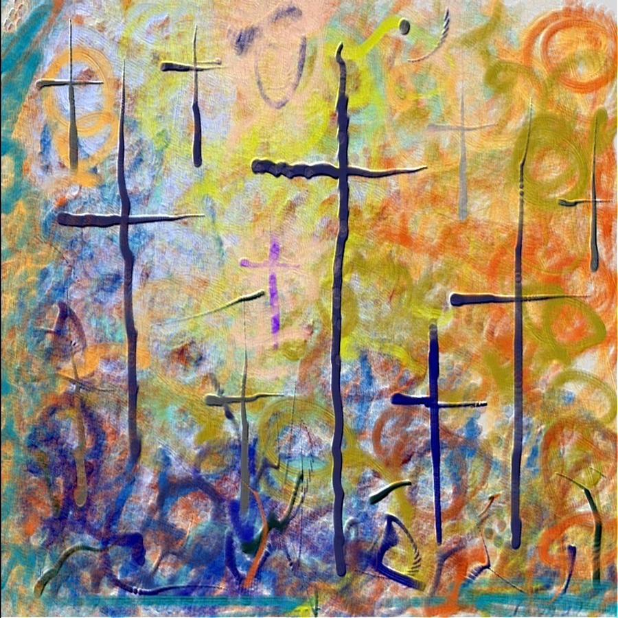 Abstract Art Crosses